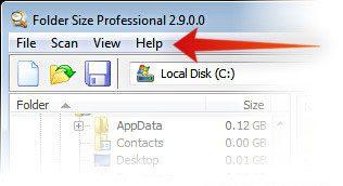 Barra de menú de Microsoft Windows