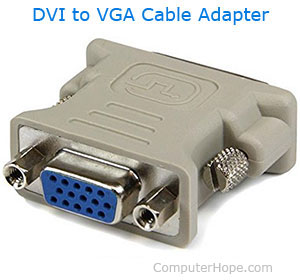 Adaptador de cable DVI a VGA